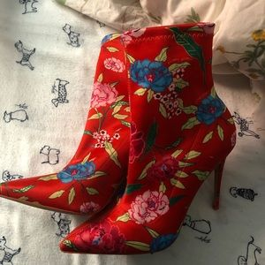 ALDO floral design stiletto heels